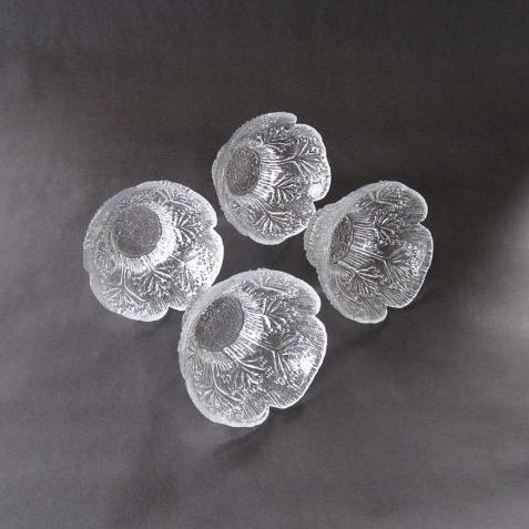 Set (4) Pertti Kallioinen Abstracted Tree / Petal Form Glass Dessert Bowls - 1970s ($39) -