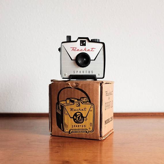 Vintage Spartus Rocket Camera + Original Box, 1960s, ($68) -