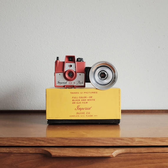 Vintage Imperial Mark XII Camera + Original Box, Flash, and Booklets ($93) -