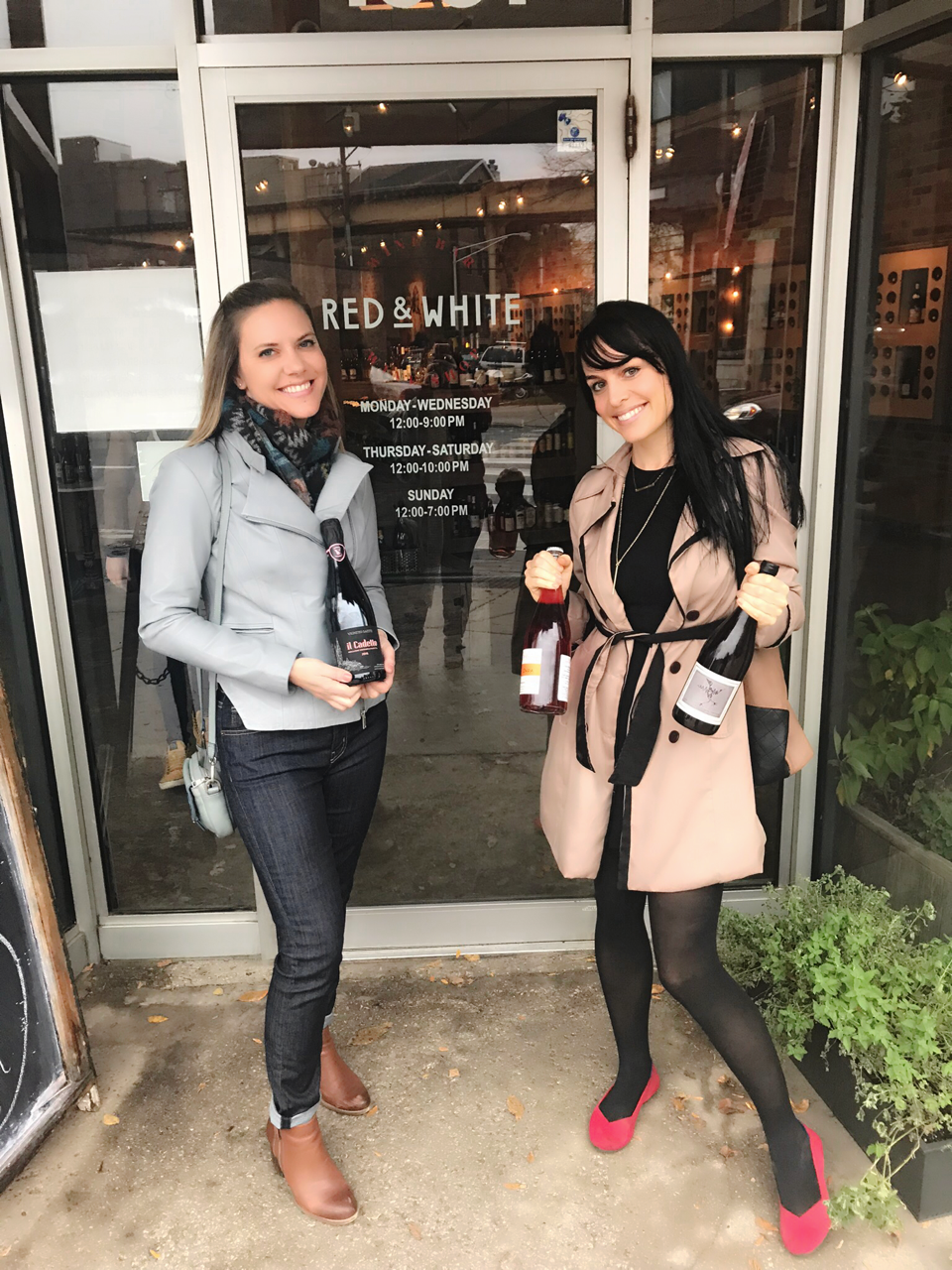 Anne & Colleen in front of Red & White Wines Fall 2017