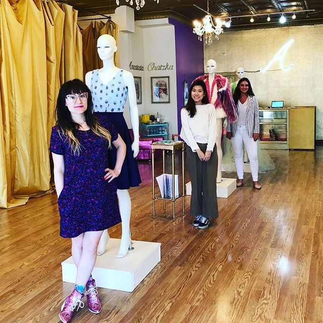 It's #smallbusinesssaturday & we wanted to highlight @anastasiachatzka boutique in Wicker Park. They are closing so having a sale of up to 80% off today 11am-7pm! We had so much fun visiting Anastasia's boutique this summer & learning ALL the fashion she makes is designed and manufactured right here in Chicago. Shop local today and check out all of the unique and beautiful designs at Anastasia Chatzka before they close. (She will still be around to make custom slow fashion pieces for Chicagoans after the boutique closes.) . . . #anastasiachatzka #boutique #localbusiness #manufacturedhere #madeinchicago #shoplocal #clothesshopping #localsale #wickerpark #chicago #chicagofashion #jtgood #wickerparkscene