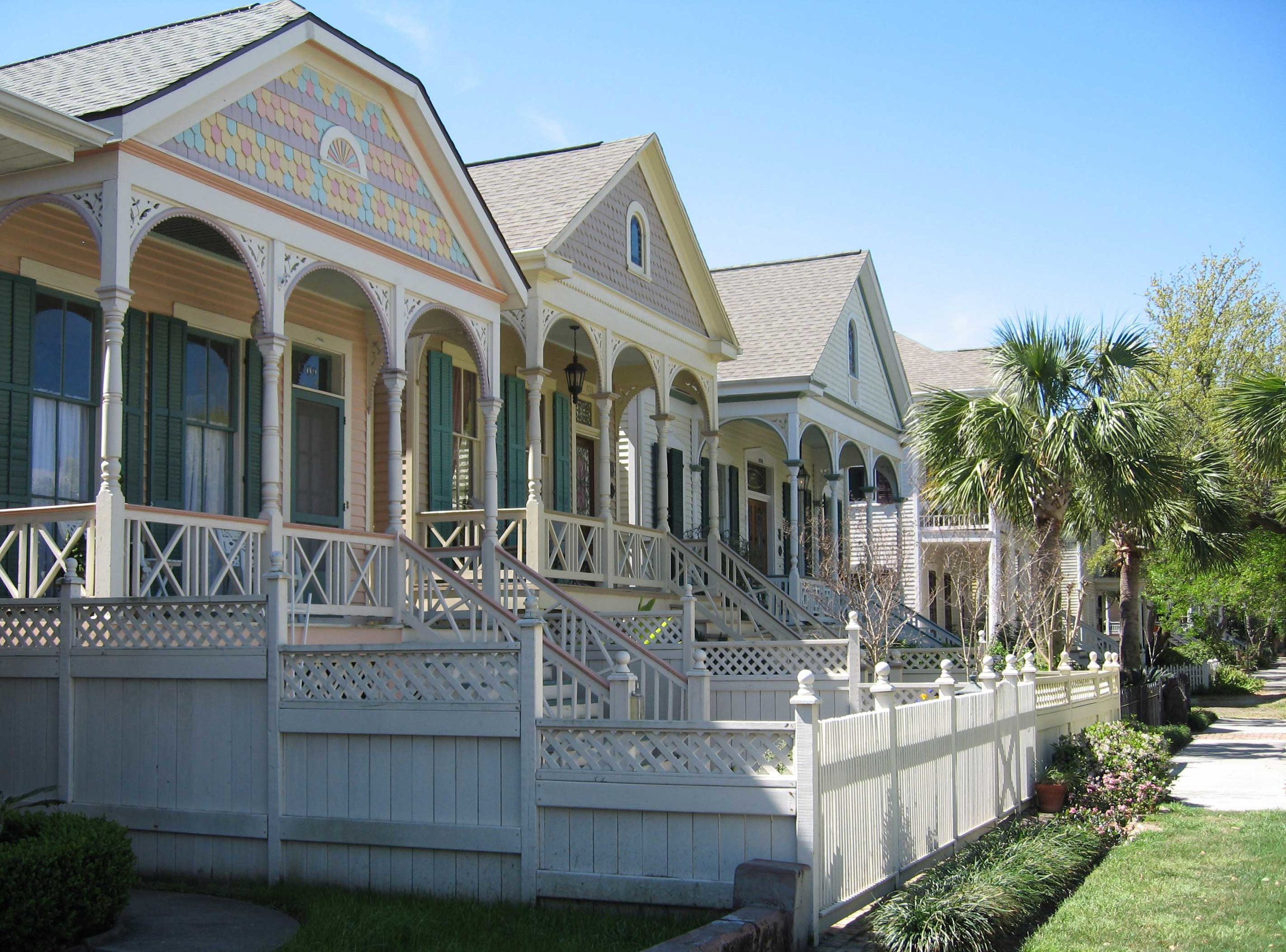 Galveston Historic East End - Victorian homes