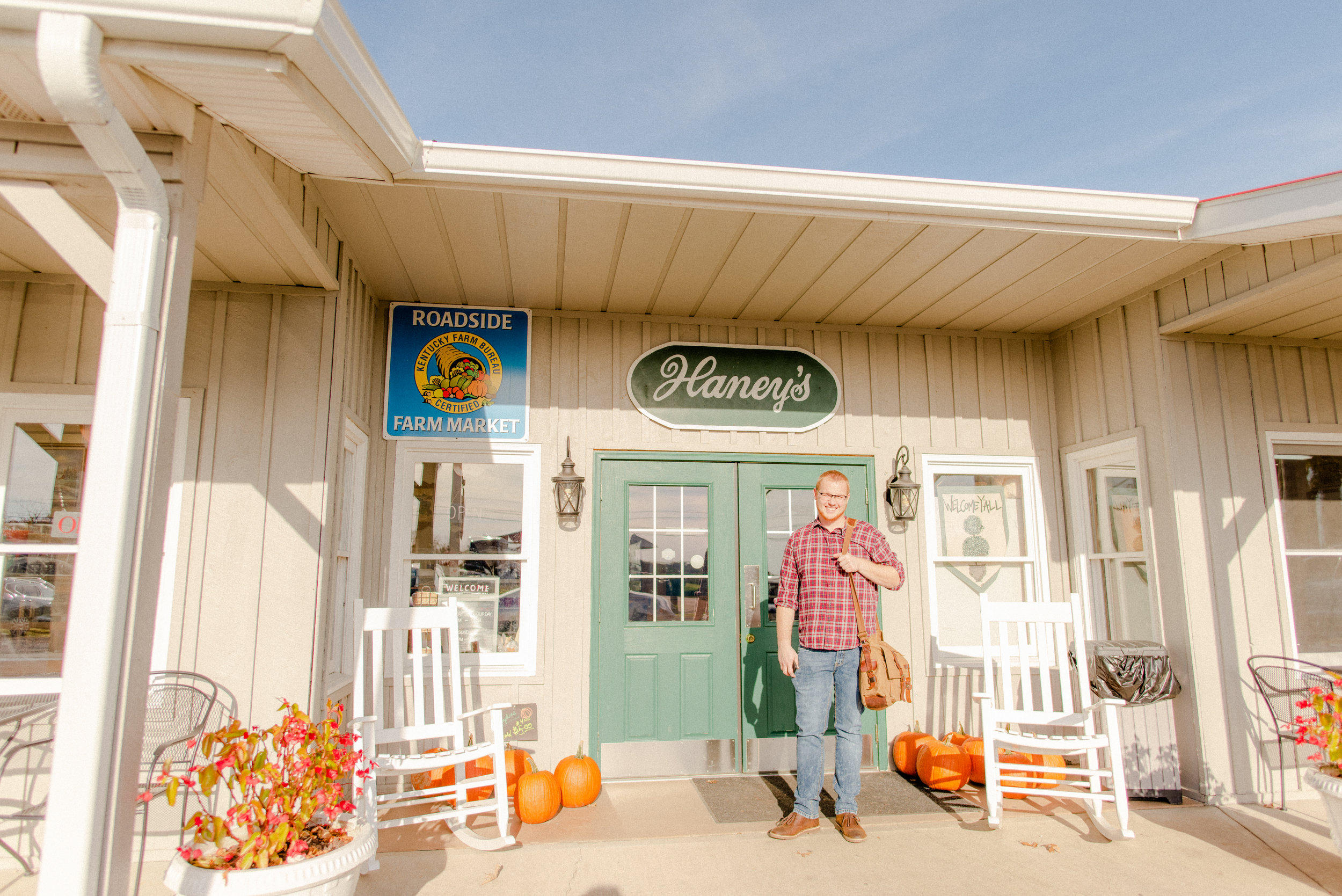 Here, we were at one of our favorite places: Haney's Appledale Farm!!! I had just shot two fall family sessions in the orchard, and once we were finished, we headed inside for apple pie and frozen apple-cider slushies. Just thinking about it makes my stomach growl!
