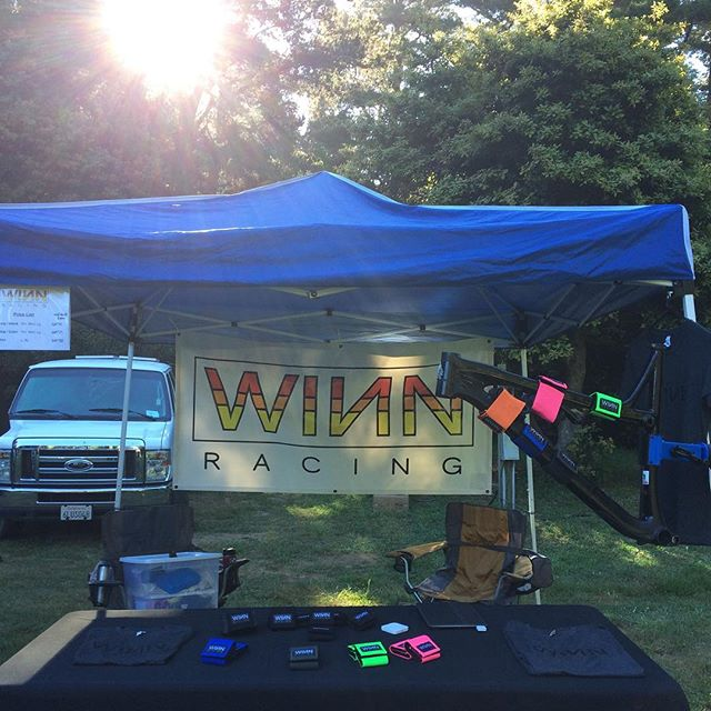 @winn_racing is set up at #wildwoodenduro for the @ca_enduro Come see us at the staging area and check out our new colors: Army Green, Blue, Bright Pink, and Bright Green. #saynotoelectricaltape #sparetubeready #endurostrip