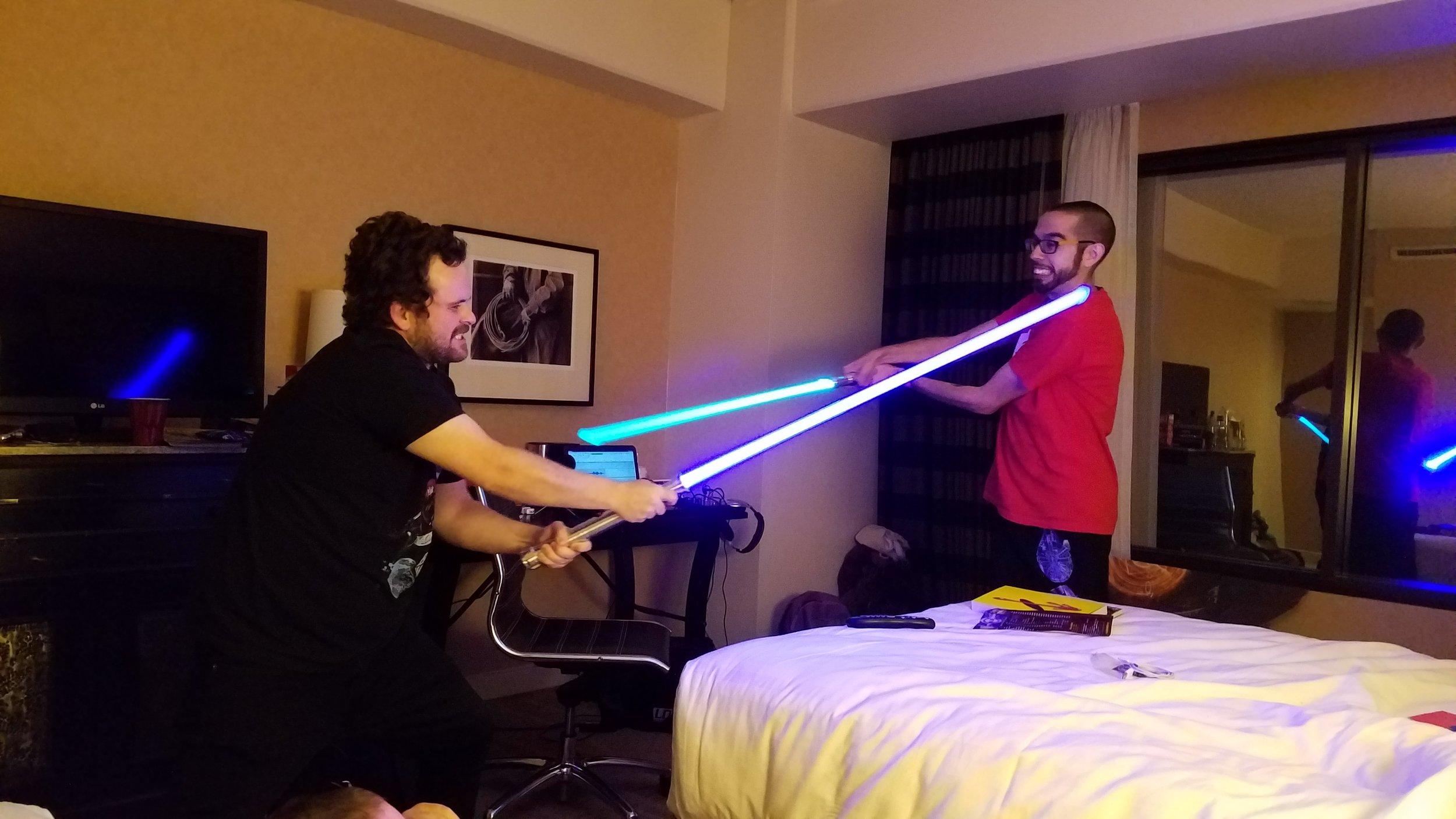 - Lightsaber Fight!