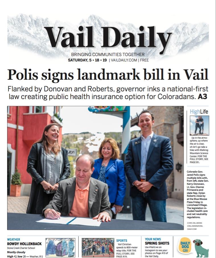 Read the full Vail Daily article:  CLICK HERE .