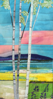 Birches and Mountain