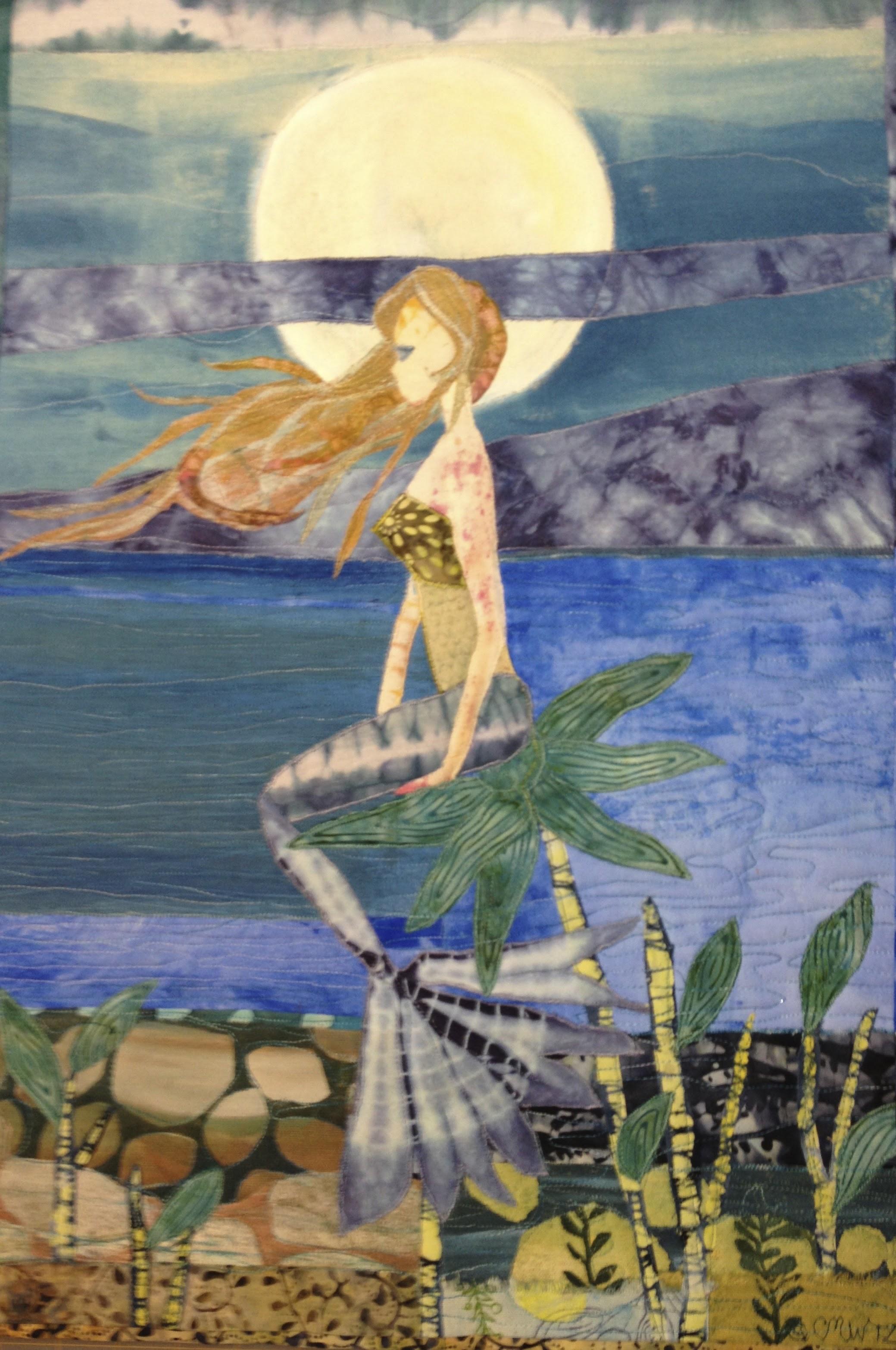 Mermaid with Full Moon