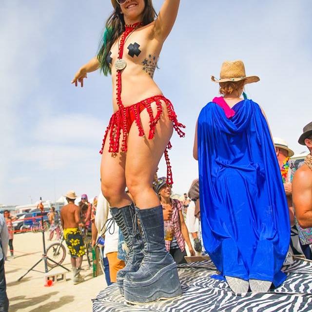Burning Man Platform Boots