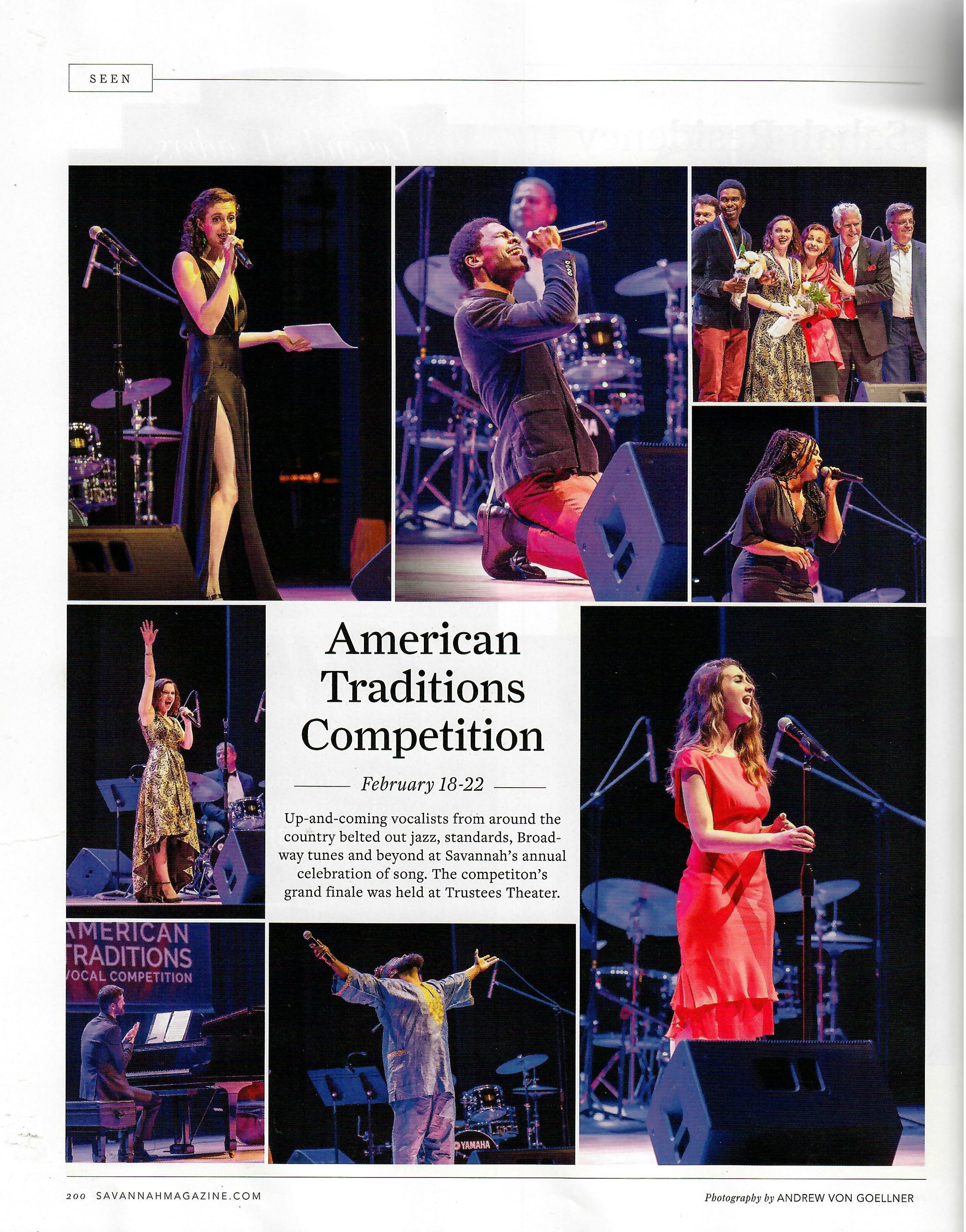 Thank you to  Savannah Magazine  for your coverage of the American Traditions Vocal Competition.