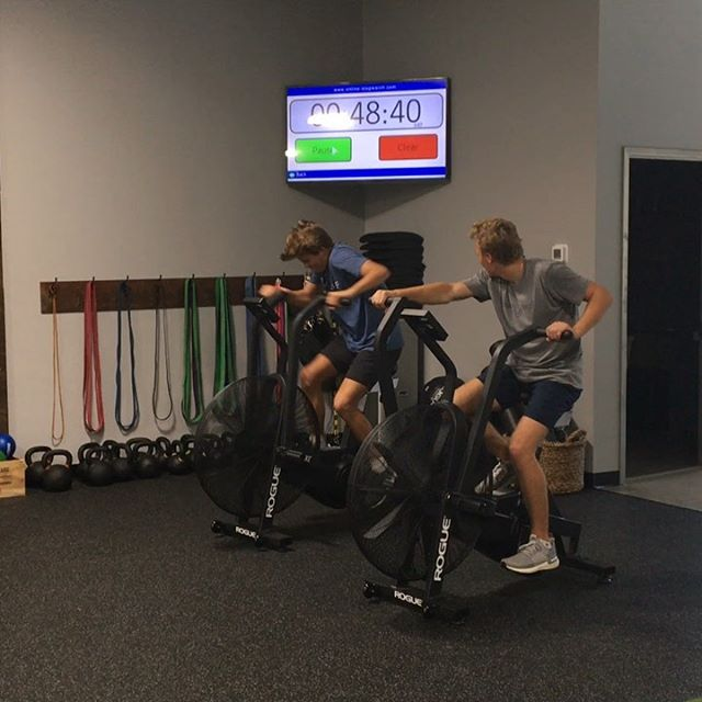Hockey season has started and these guys are training to be stronger, faster and harder than the competition. Who went hardest on the bike?@gdeane8 @boden.gammill @jarrison18 @gavinreid11 . . . #theathleticmovement #nchshockey #newcanaanhockey #embracethesuck #athletedevelopment #poundridge #newcanaan #bedford #stayhard