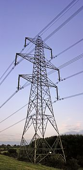 Power transmission - current is reduced to save losses.