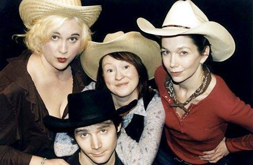 Benjamin Lawrence and Desiree Prewitt in  The Cowgirl Play  Desiree Prewitt and Kristina Sutherland