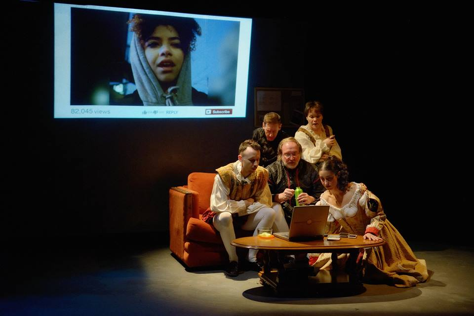 The cast of  Smoke & Dust,  by Joy McCullough-Carranza, directed by Amy Poisson. Photo by Joe Iano Photography.