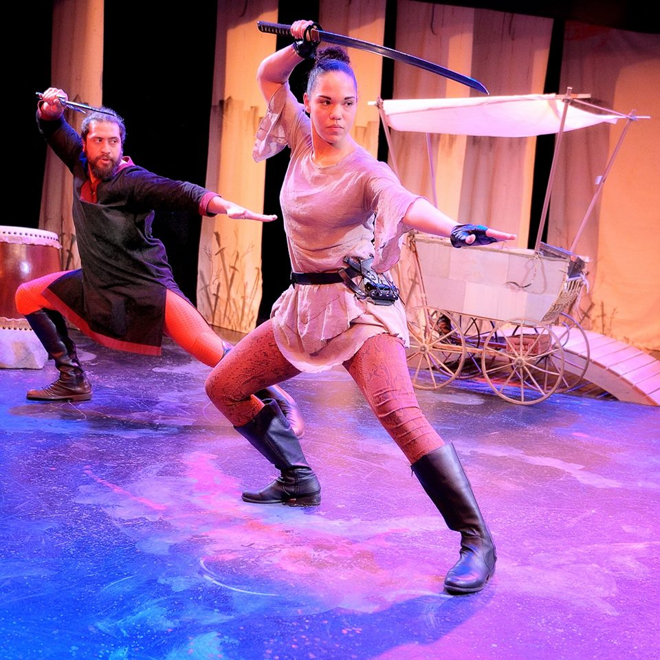 Fune Tautala and Ayo Tushunde in  Sheathed  by Maggie Lee, directed by Amy Poisson. Photo by Joe Iano Photography.
