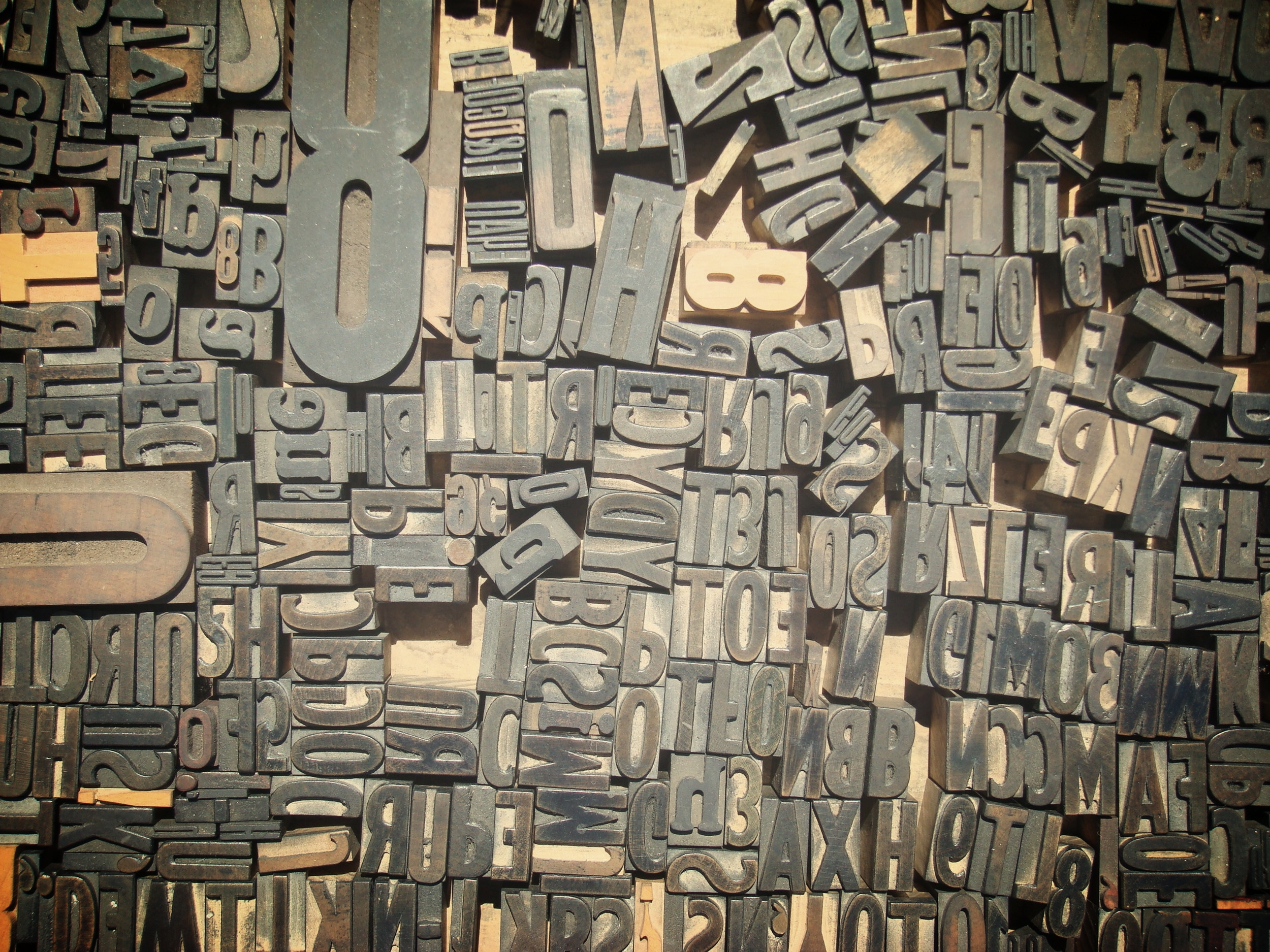 Moveable wood type