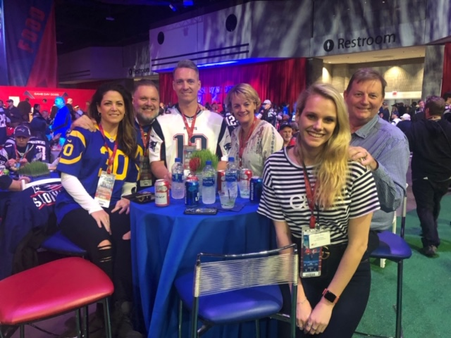 Some of our happy guests enjoying the Pregame VIP Hospitality before the Rams take on the Patriots in Atlanta.