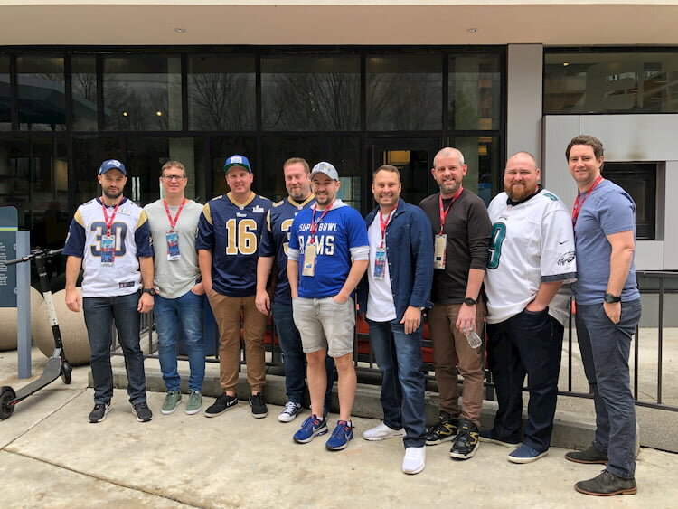 Some of our guests in Atlanta getting ready for Super Bowl LIII