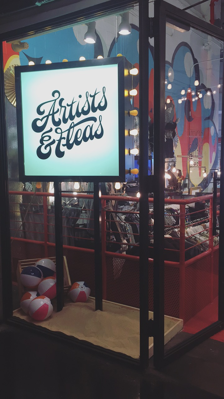 There was a section within Chelsea Market dedicated to local artisans and resale of vintage.