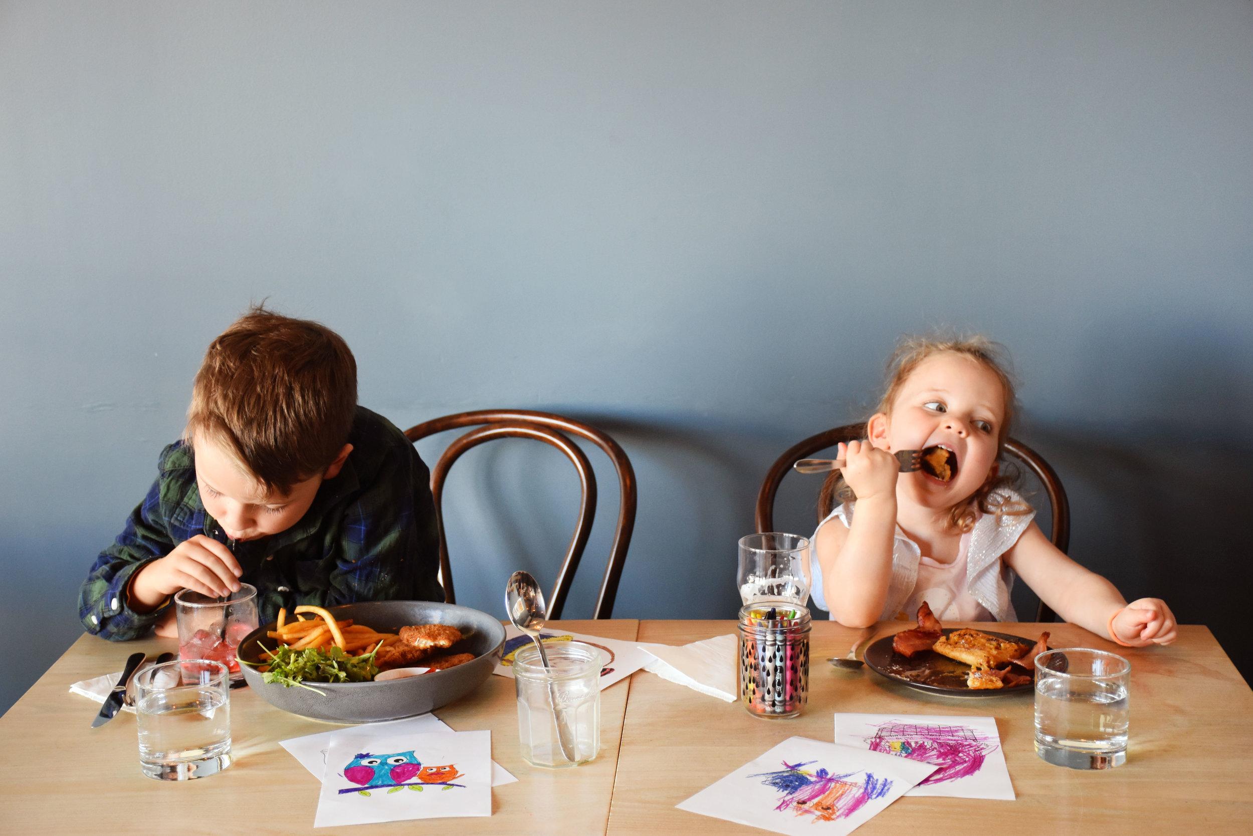 Kids menu -