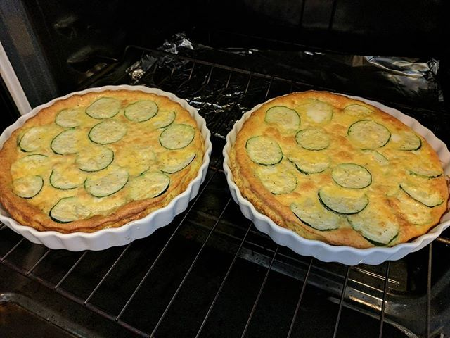 Zucchini quiche with zucchini from our garden!