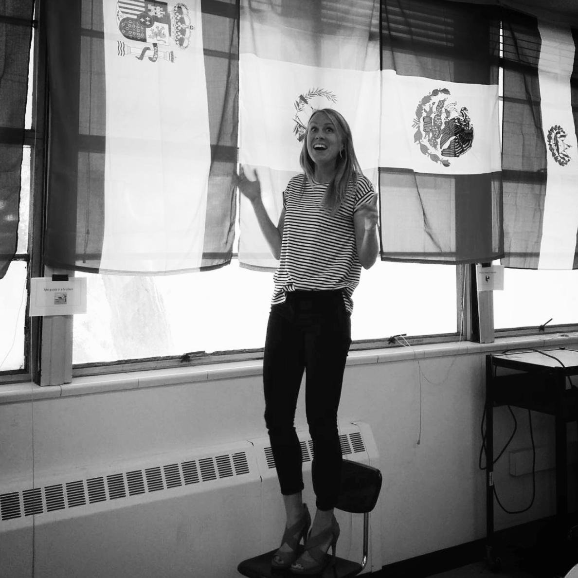 Britt Faris - Liz met Britt teaching at Locke.