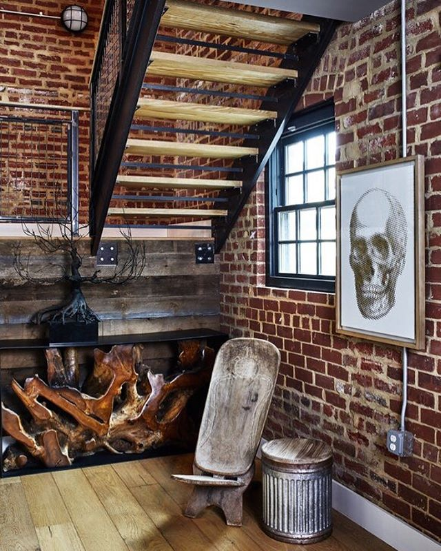 Helicopter Factory Project #brassbonesdesign  Design: @brassbonesdesign 📷: @stacyzaringoldberg Styling: @interiorstylingsbycat • • • • • • #dcrealestste #interiordesign #design #architecture #designer #interior #homedecor #interiordesigner #dmv #home #homestyling #homestyle #dcdesign #interiorstyle #washingtondc #decor #modernhome #northernvirginia #dmvrealestate #nova #hgtv #industrialhome #columbiaheights #columbiaheightsdc #industrial #architecturaldigest #modern #exposedbrick #reclaimedwood
