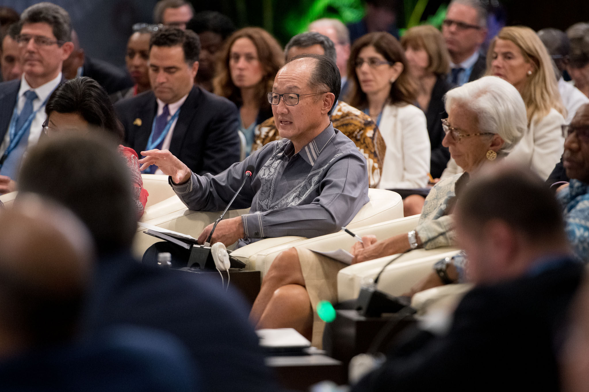 October 13, 2018 - BALI, INDONESIA. 2018 IMF / World Bank Group Annual Meetings. Development Committee. World Bank Group President Jim Yong Kim. Source:  World Bank Photo Collection, Flickr