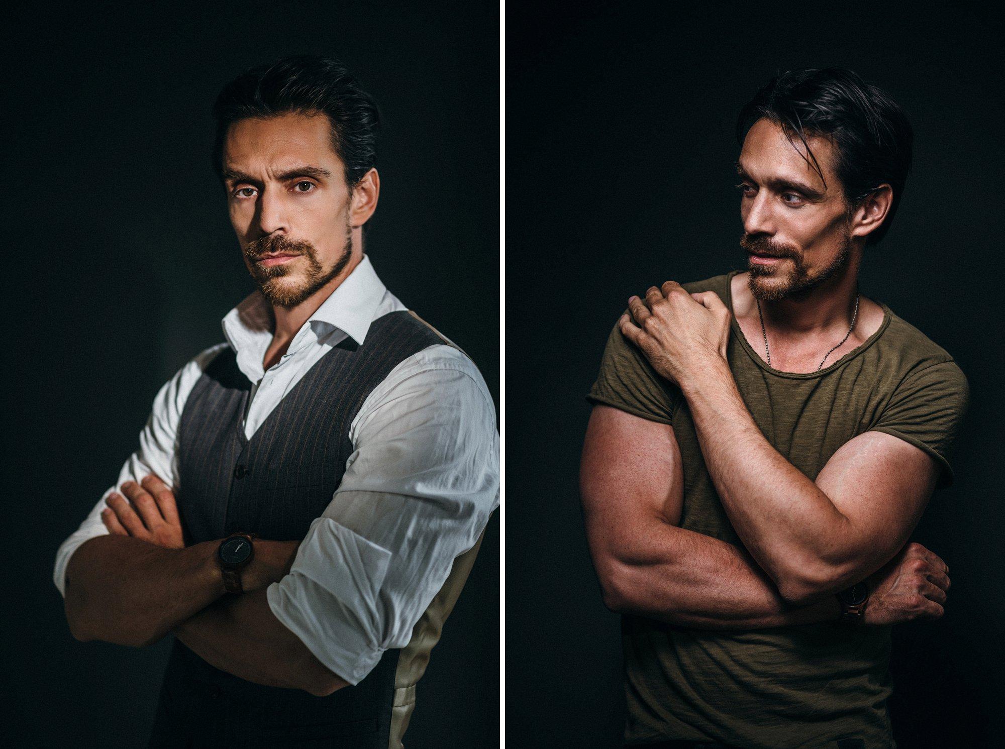 stimmungsvolle Schauspieler Portraits