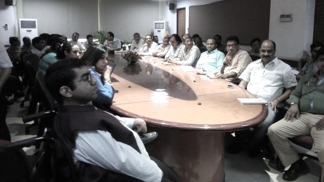 Nipman Team At a sensitization training at PWD Office