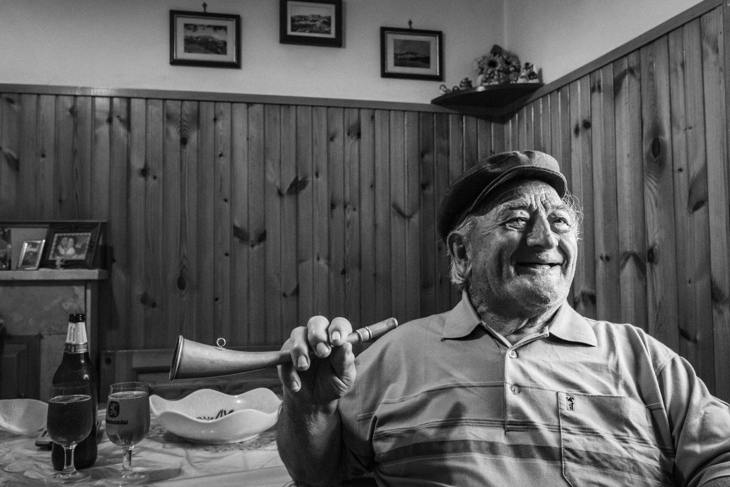 Vastogirardi (IS), Italy - July 2017. Felice Di Tella, born 1931, is the last village crier still in activity in the villages of the Altomolise. The crier used to read out loud along the streets of the village the orders of the authorities and the presence of sellers in the village market square.