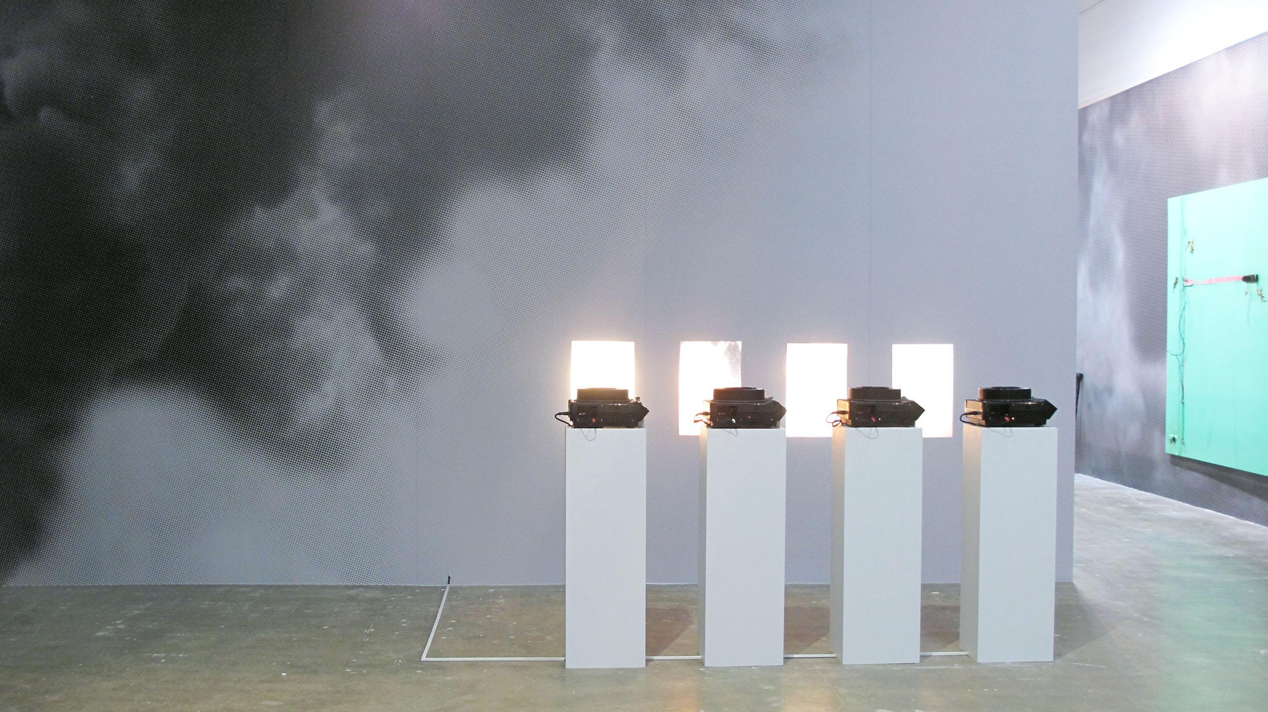 From top AJai-Hyoung Hwang 'Hwangi' 1984 (image: Stefan Altemburger) Mirinalini Mukherjee 'Aboreal Ennactment' 1991-2 James Richards 'Untitled' 2013