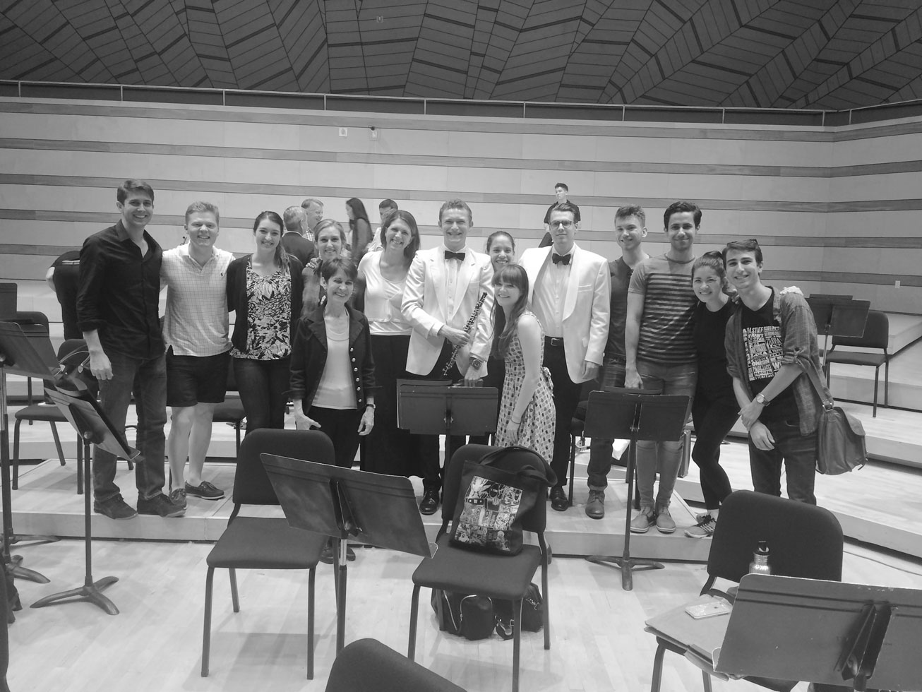 Emily with the oboe studio at Aspen, USA where she joined the faculty in 2016