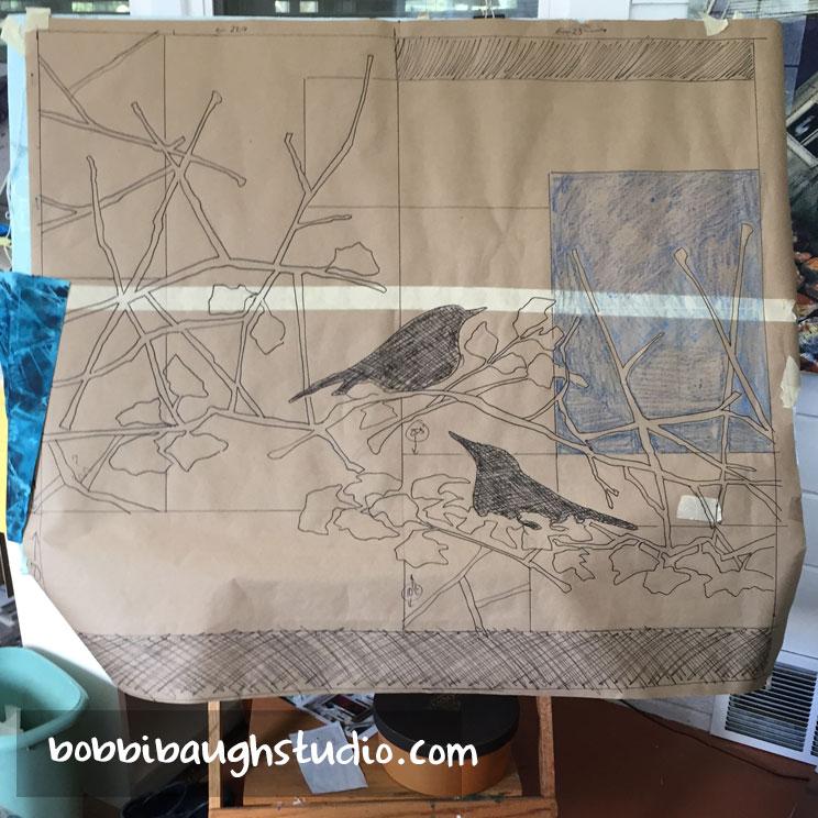 bobbibaughstudio-bird-sketch-on-easel.jpg