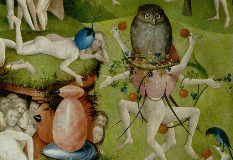 "Detail, ""Garden of Earthly Delights."" Hieronymous Bosch"