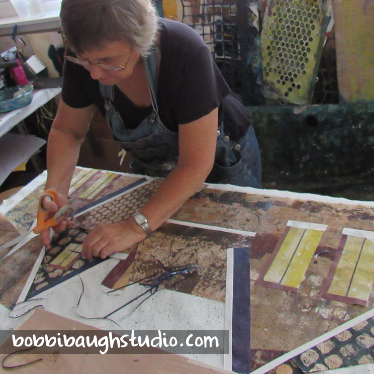 bobbibaughstudio-work-in-progress-brown-village.jpg