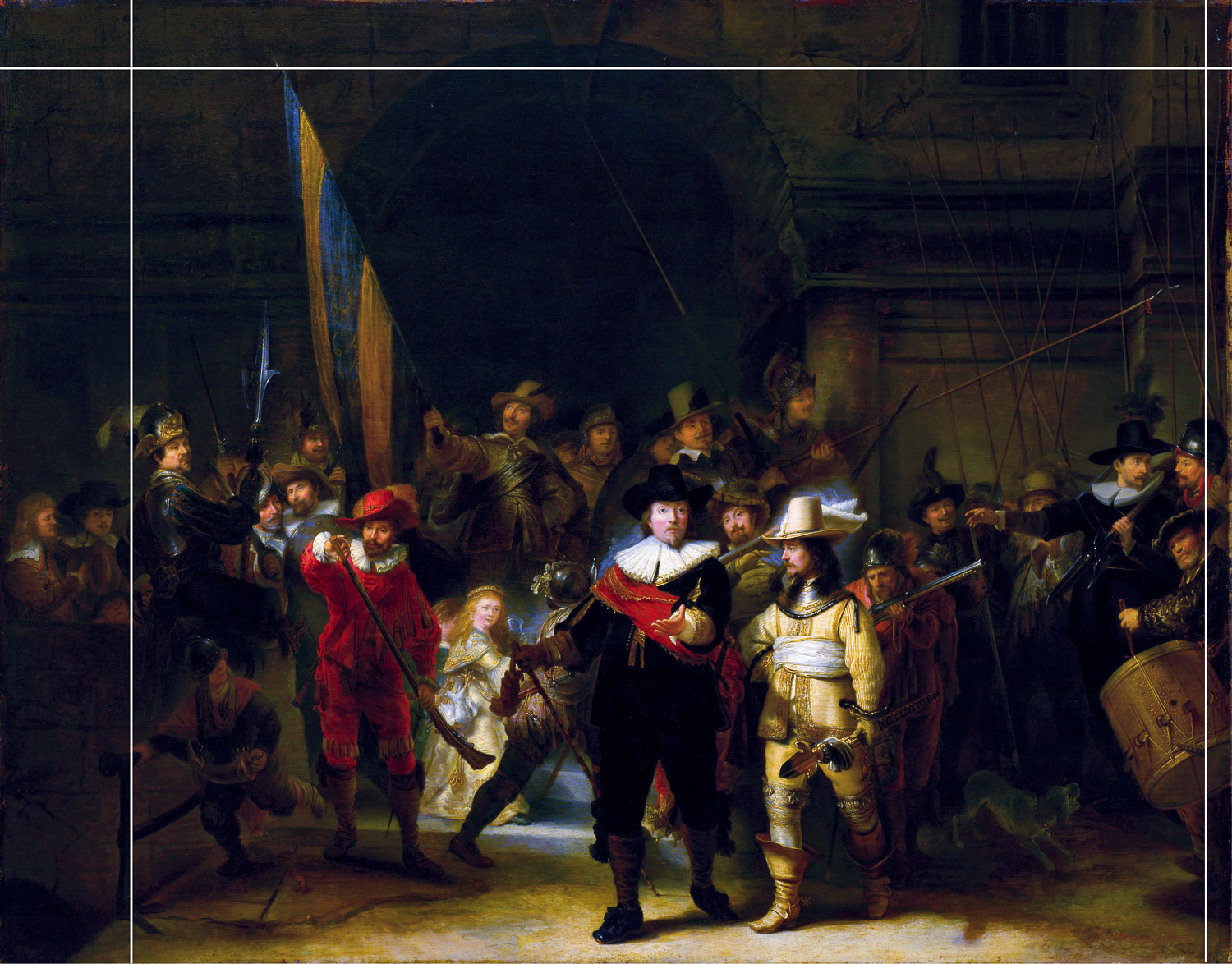 Gerrit Lundens version of 'The Night Watch'
