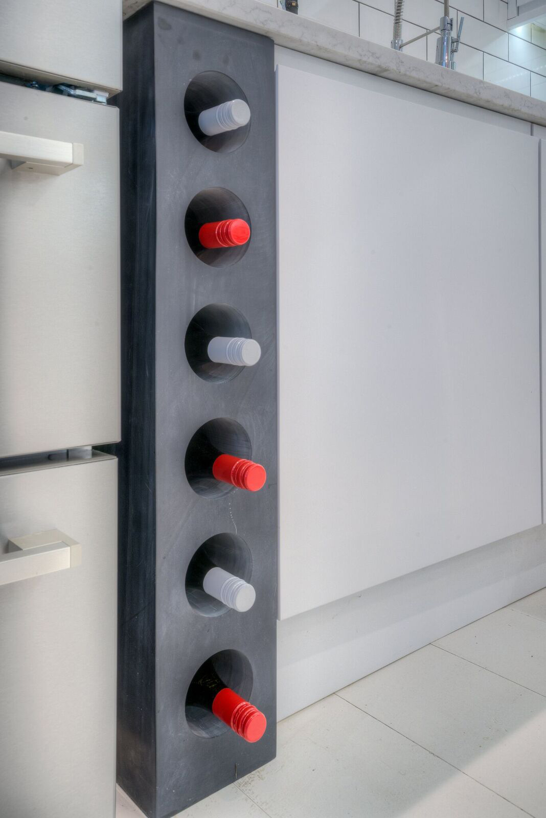 Wine rack from solid Welsh slate
