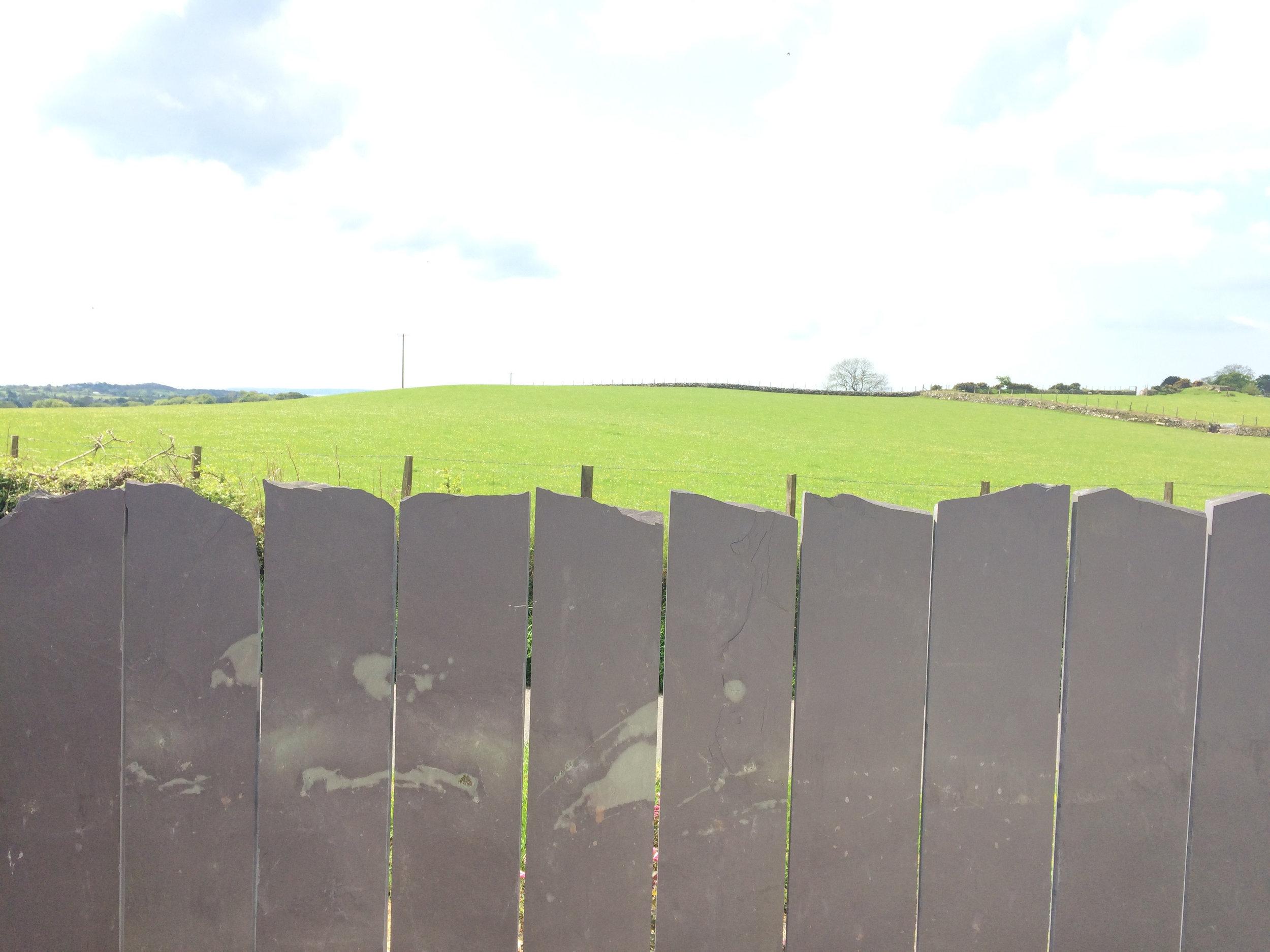 Welsh slate fencing