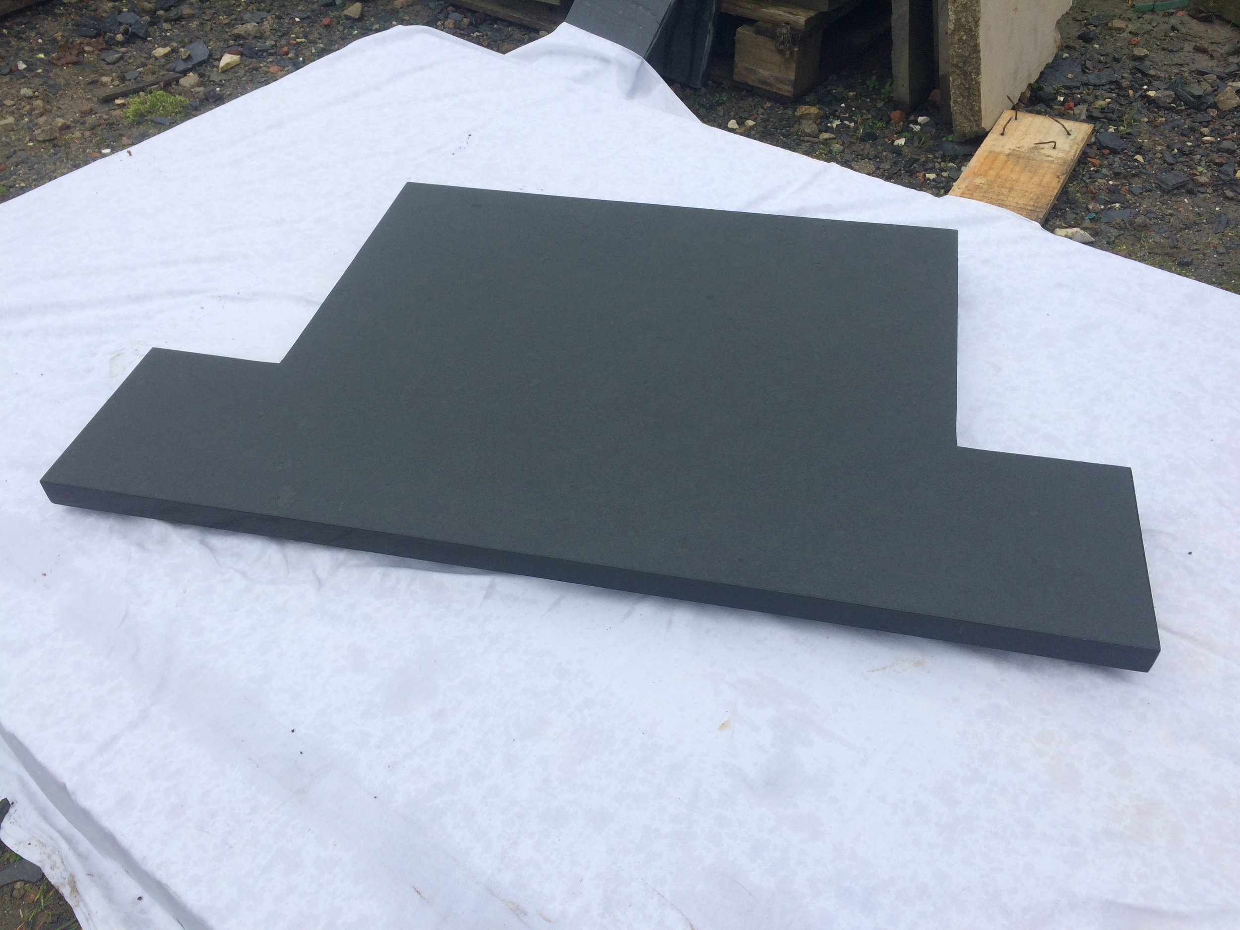 Natural top polished edges Brazilian t shaped hearth