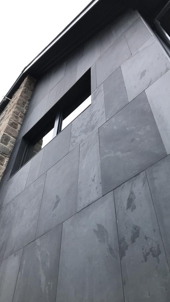 Brazilian slate cladding. Work carried out by Henry Jones Builders Ltd