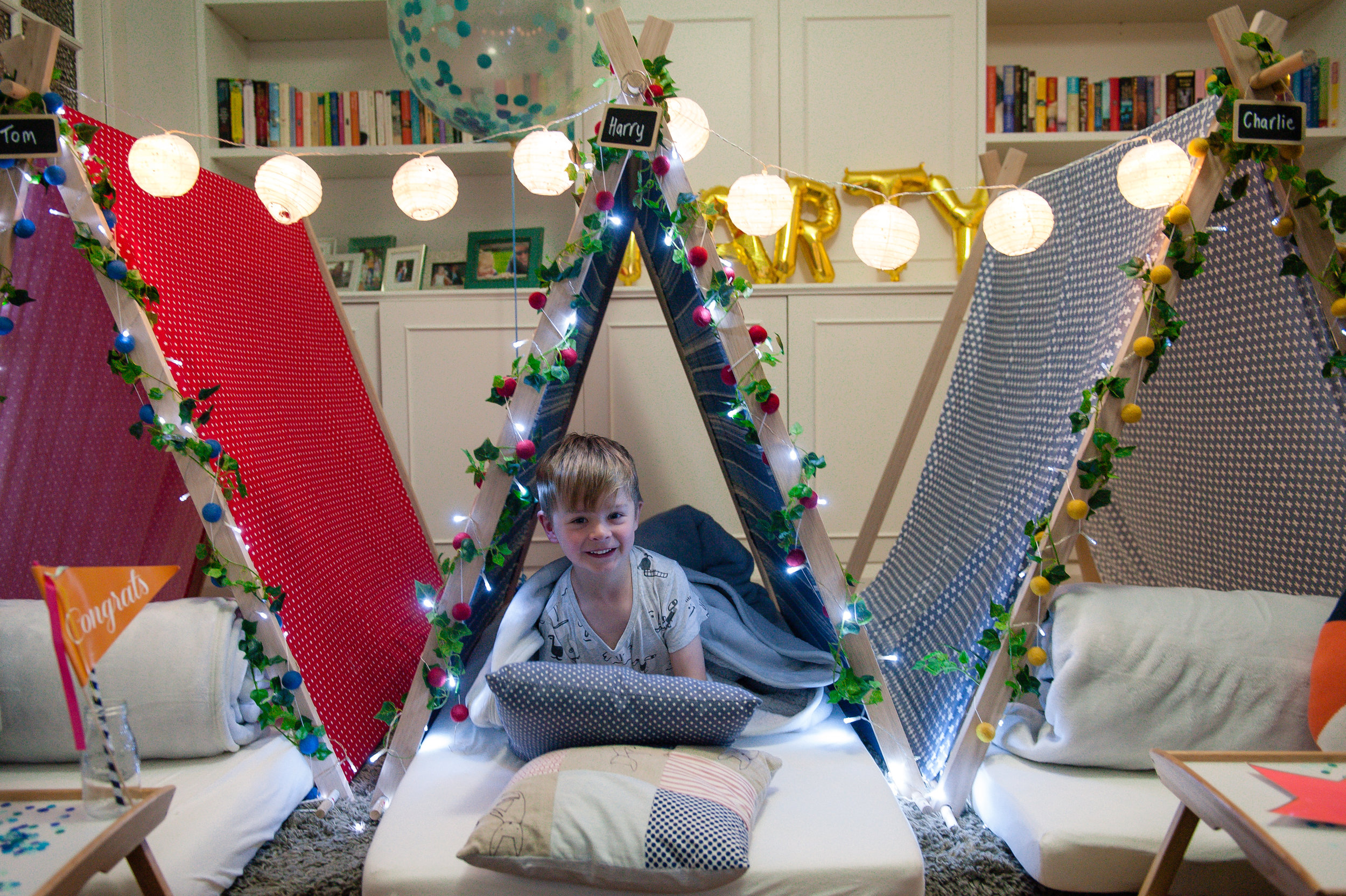 Teepee Dreams slumber party boys teepee tents Melbourne