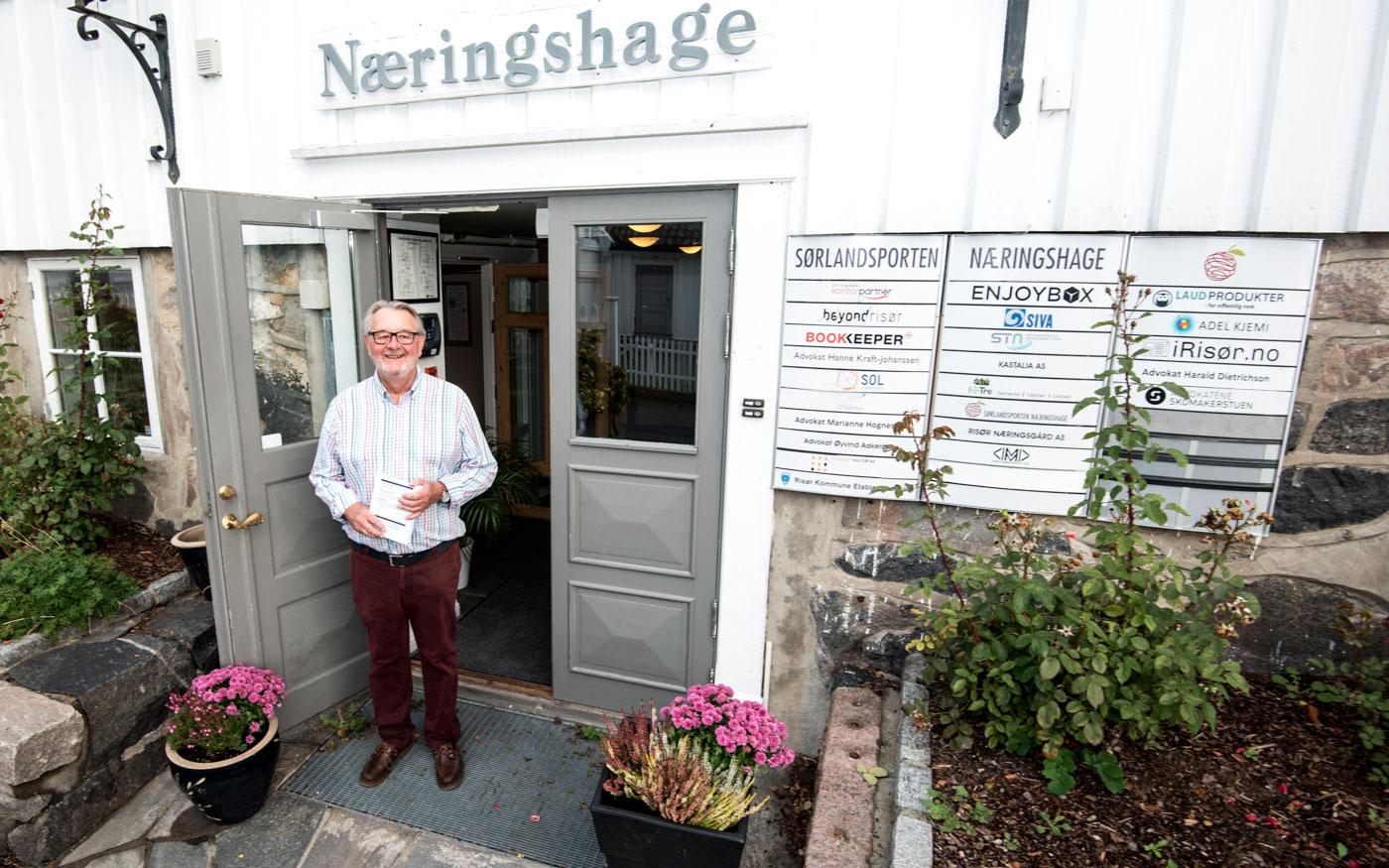 Michel Esnault er daglig leder i Sørlandsporten Næringshage.  Tekst og foto: Tore Myrberg