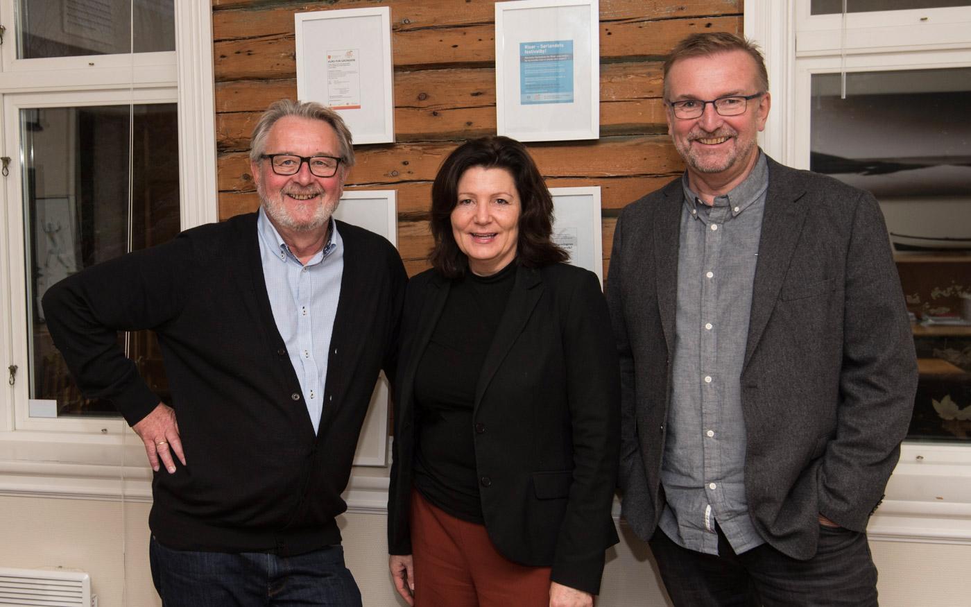 Fra venstre: Daglig leder Michel Esnault, styreleder Hanne-Lisbet Løite og styremedlem Tor Kristian Johansen.  Tekst og foto: Tor Myrberg.