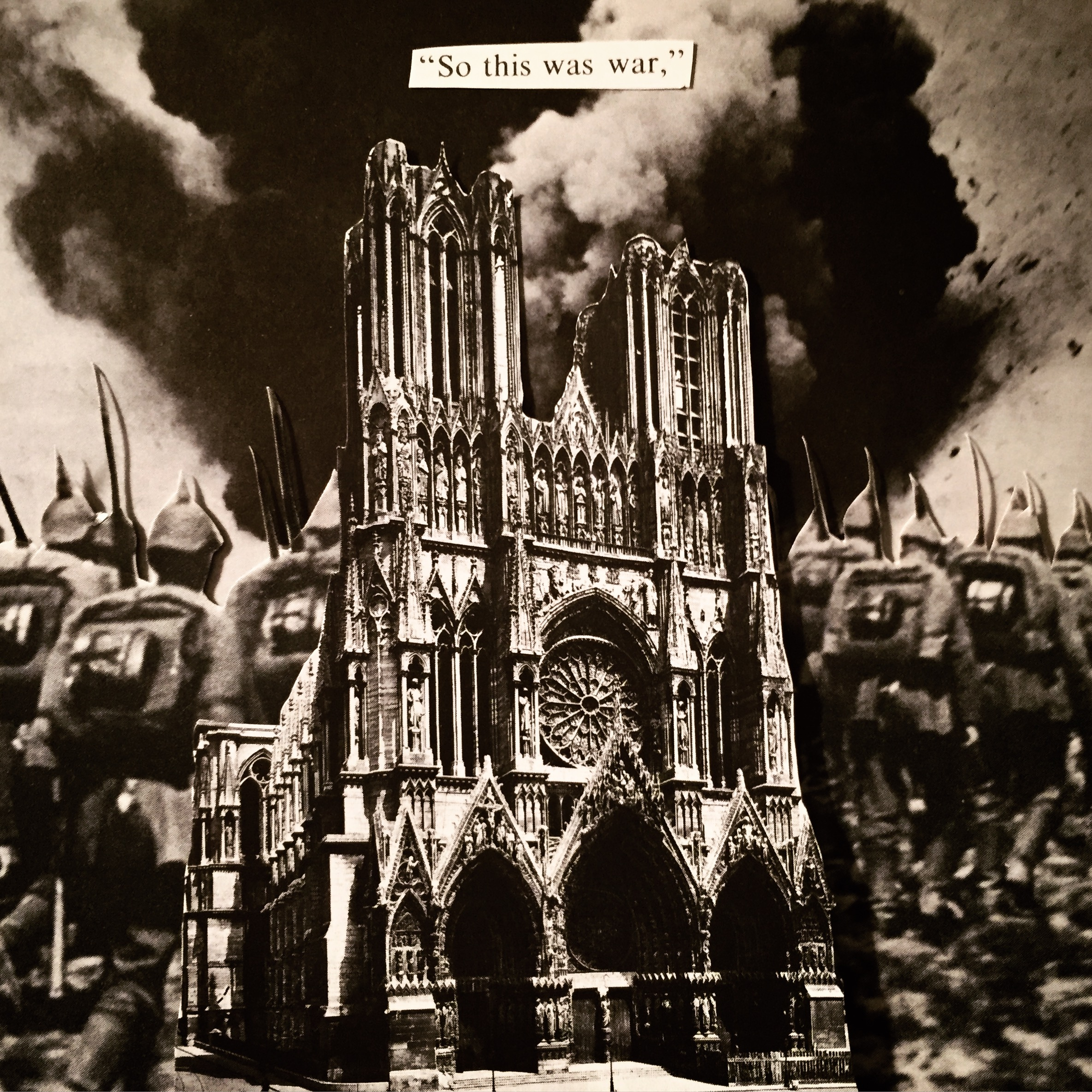The Bombing of Reims Cathedral by Joan Pope (sexdeathrebirth)