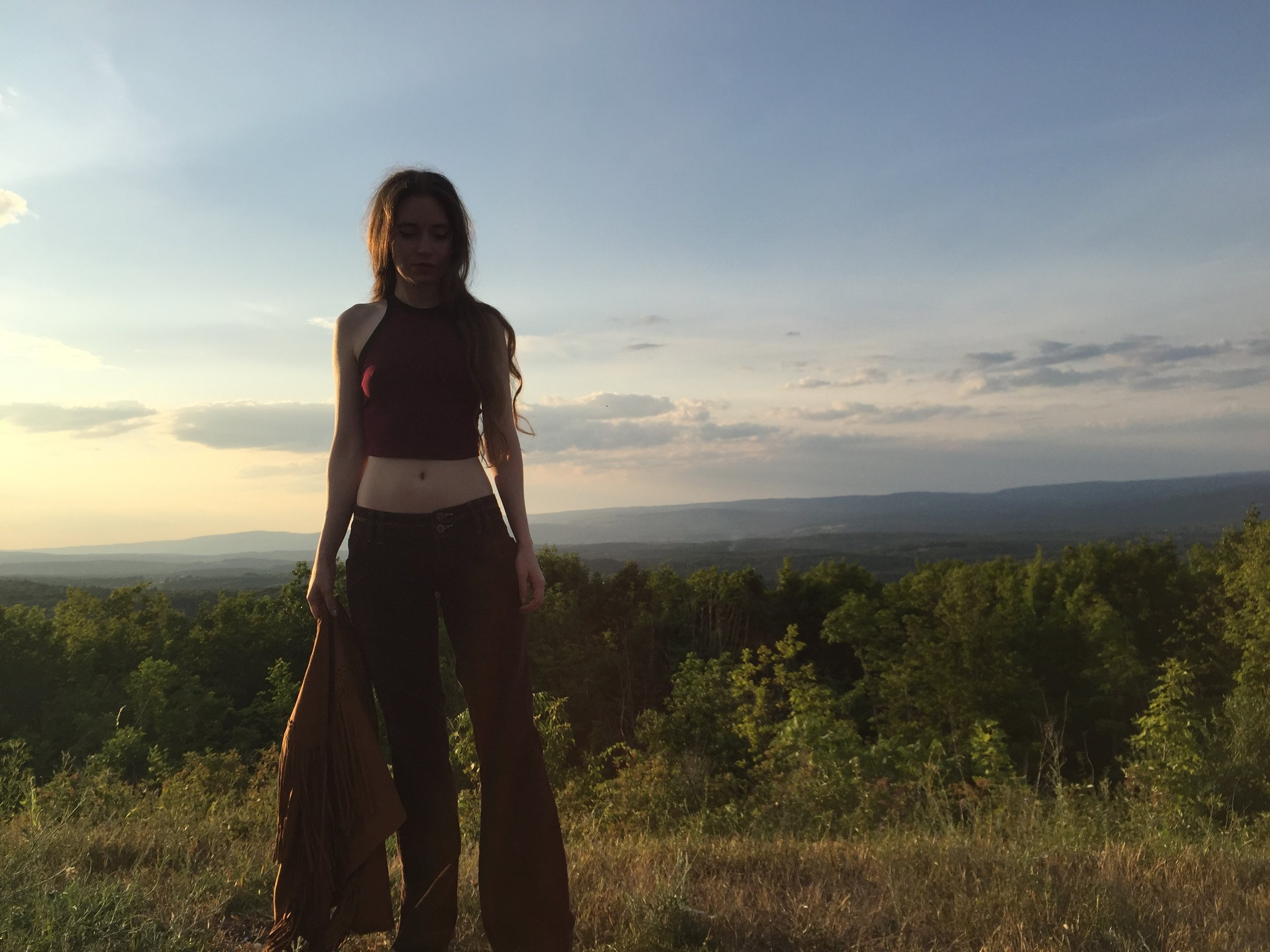 Joan Pope at Five State Lookout, Windham, NY