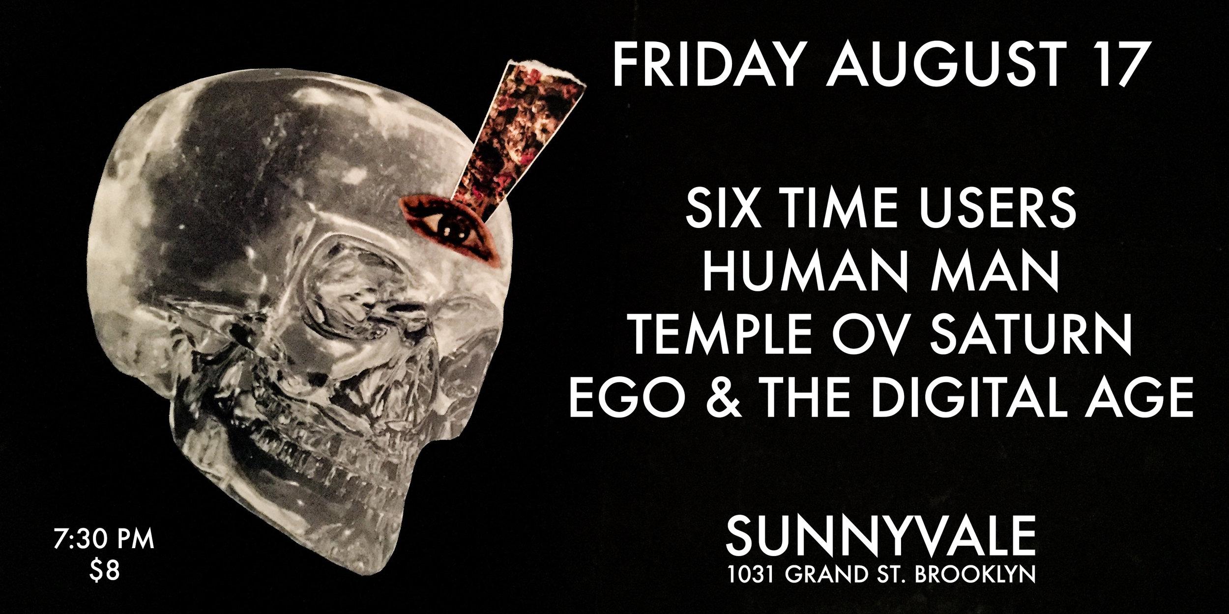 Temple Ov Saturn at Sunnyvale in Brooklyn on August 17, 2018