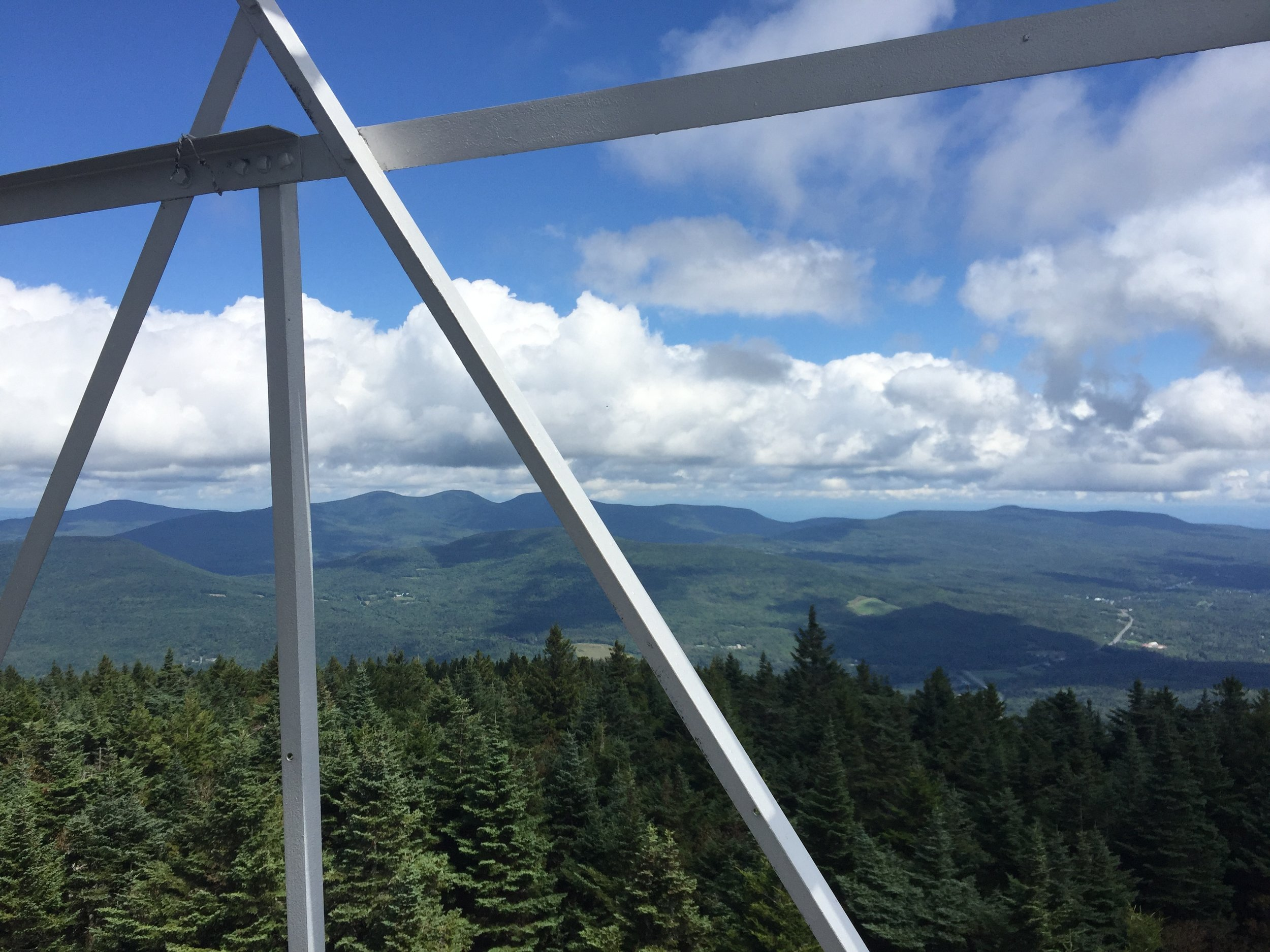 atop Hunter Mountain from the Fire Tower