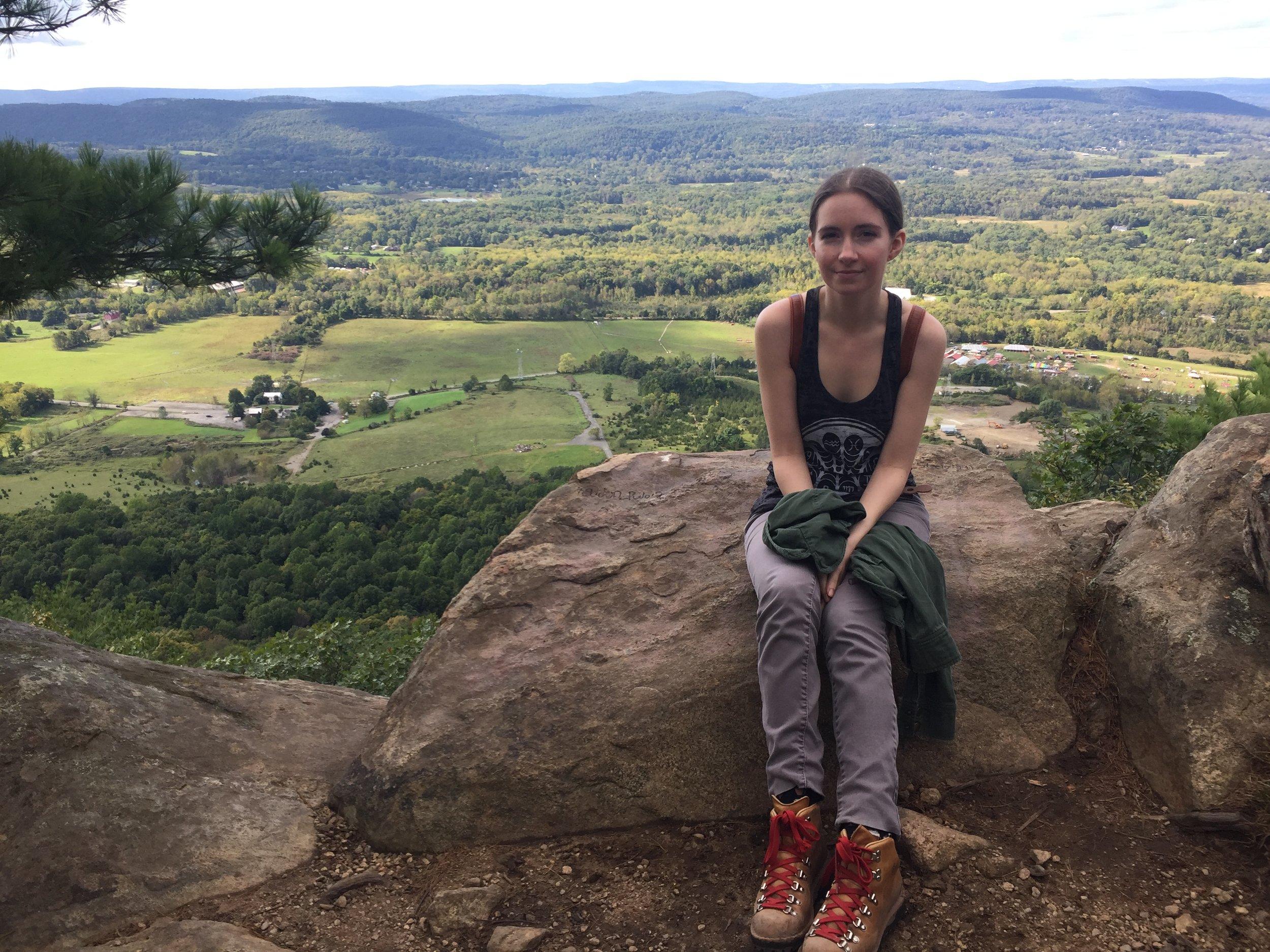 Joan Pope at Pinwheel Vista on Appalachian Trail