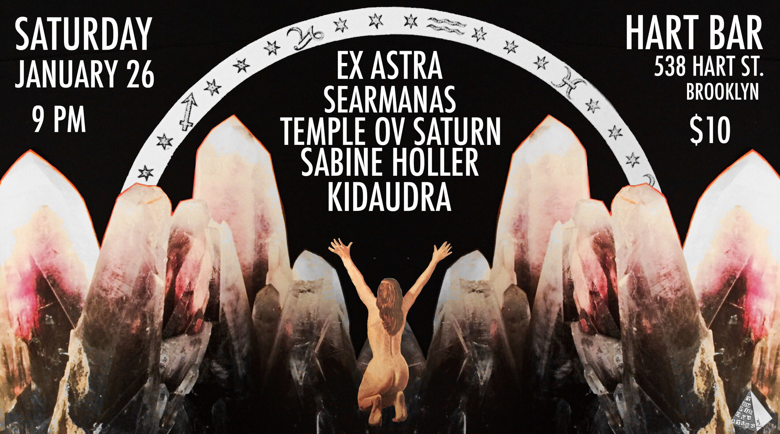 Saturday, January 26 at Hart Bar in Brooklyn: Temple ov Saturn with Ex Astra, Searmanas, Kidaudra, Sabine Holler